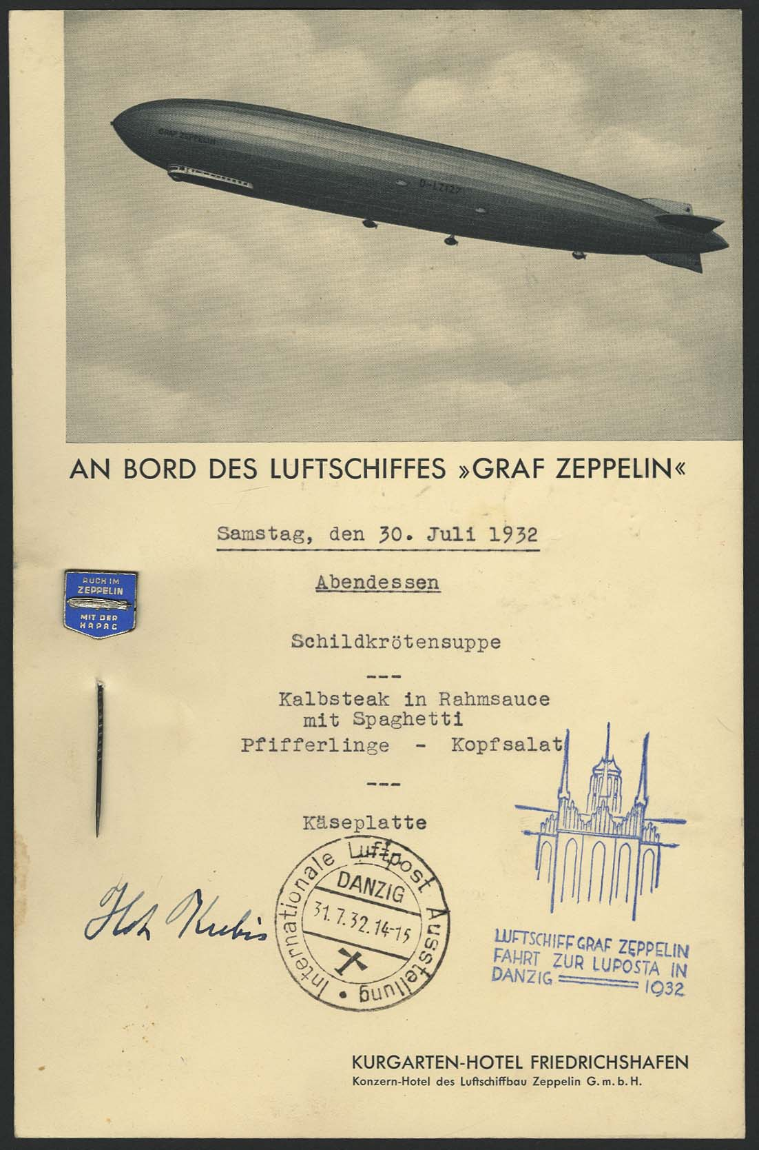 Lot 4113 - Zeppelin-Memorabilien Memorabilien -  Auktionshaus Ulrich Felzmann GmbH & Co. KG