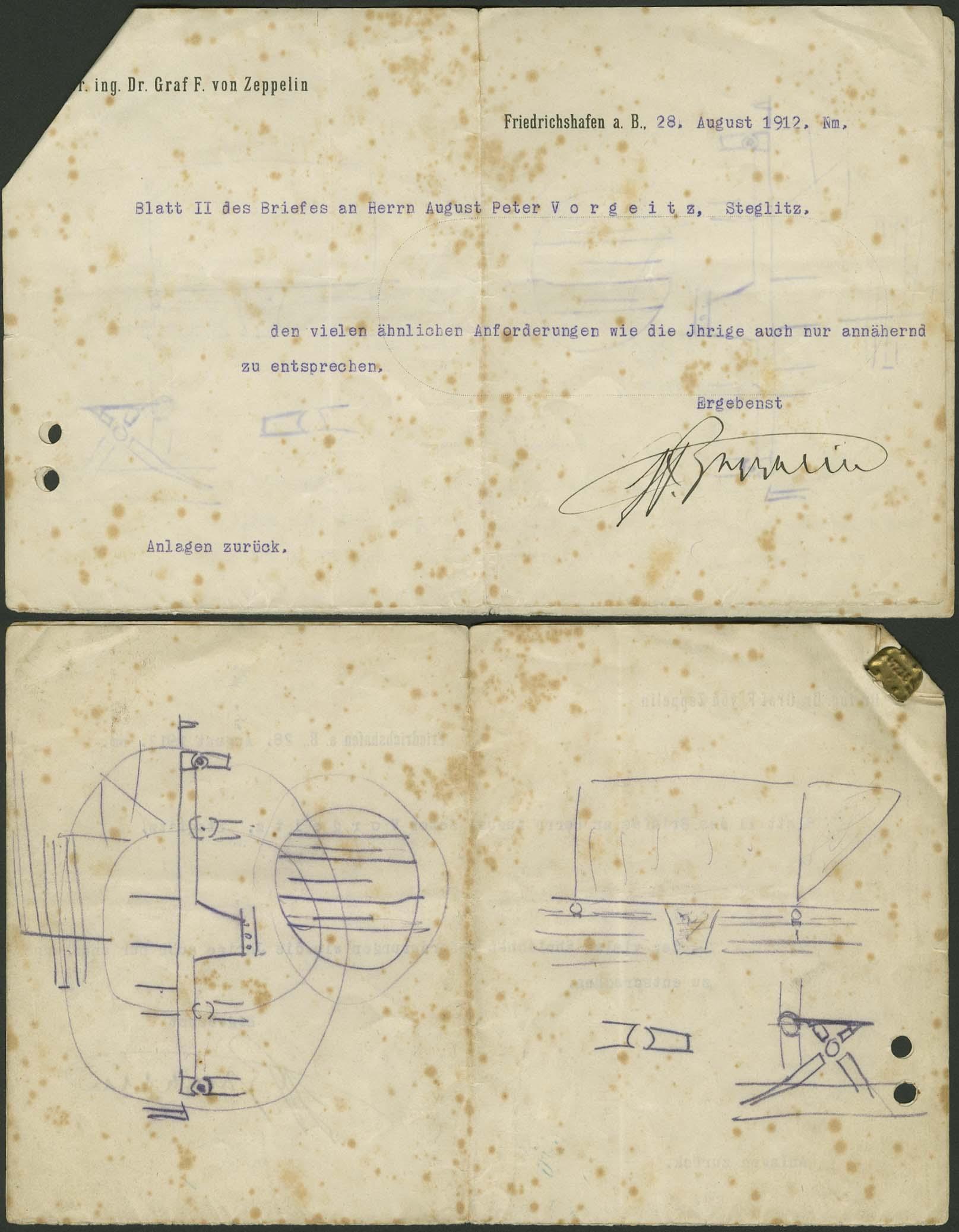 Lot 4118 - Zeppelin-Memorabilien Memorabilien -  Auktionshaus Ulrich Felzmann GmbH & Co. KG