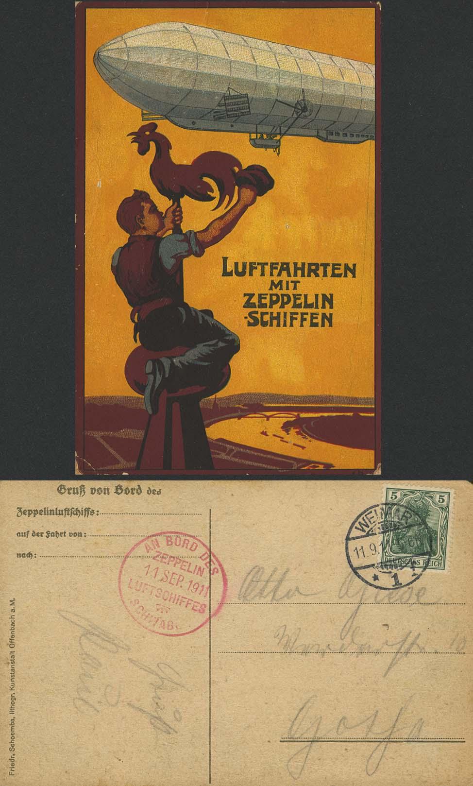 Lot 4121 - zeppelinpost nach sieger Pioniere - LZ 10 -  Auktionshaus Ulrich Felzmann GmbH & Co. KG