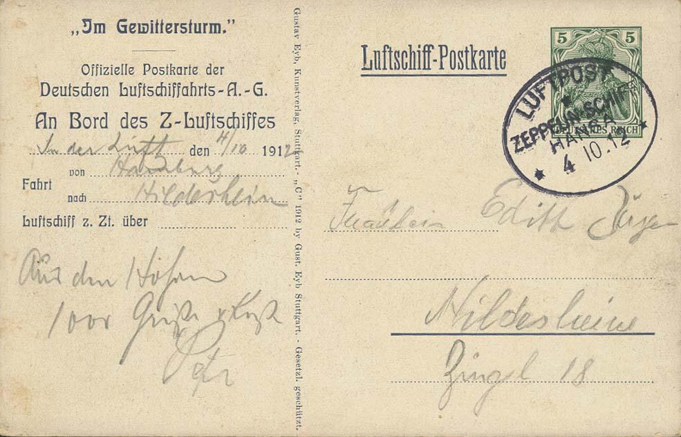 Lot 4125 - zeppelinpost nach sieger Pioniere - LZ 13 -  Auktionshaus Ulrich Felzmann GmbH & Co. KG