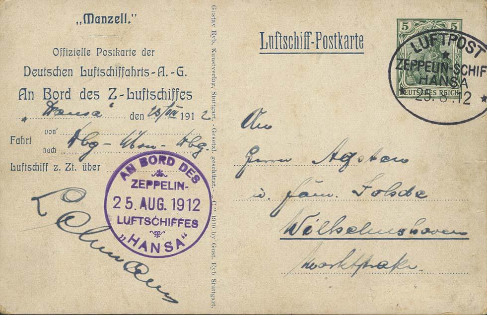 Lot 4126 - zeppelinpost nach sieger Pioniere - LZ 13 -  Auktionshaus Ulrich Felzmann GmbH & Co. KG
