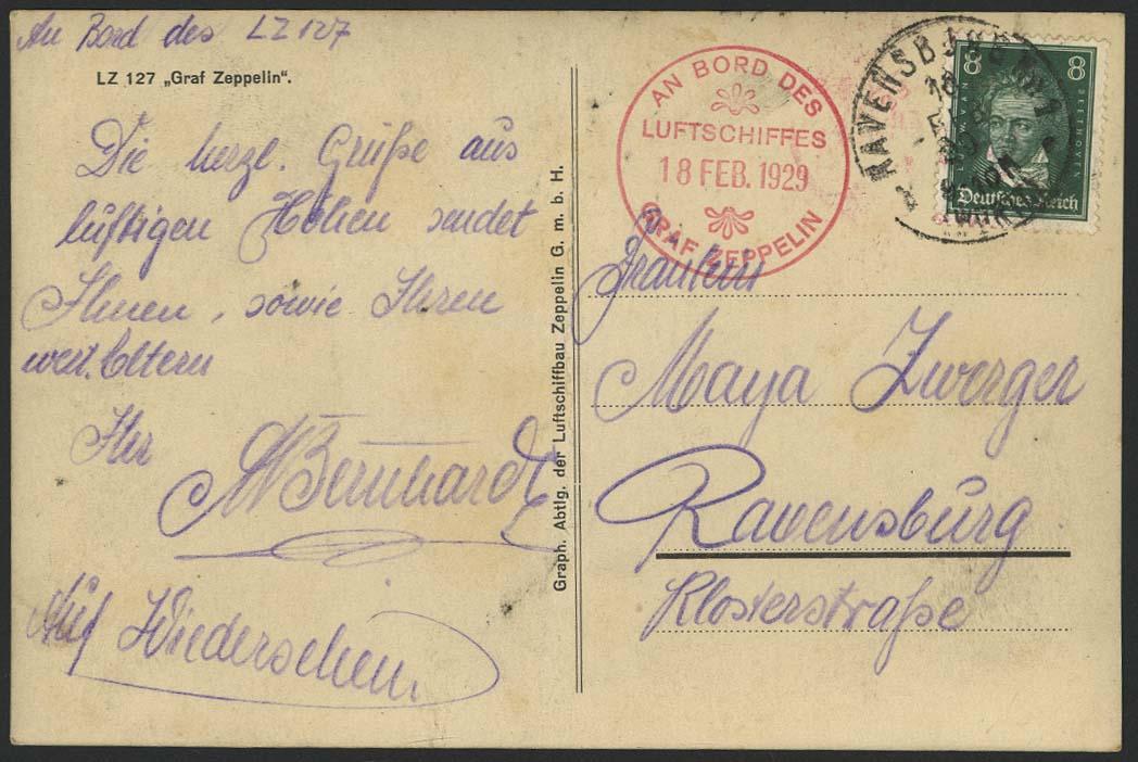 Lot 4143 - zeppelinpost nach sieger LZ 127 - 1929 -  Auktionshaus Ulrich Felzmann GmbH & Co. KG