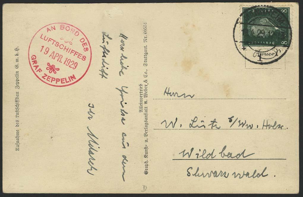 Lot 4146 - zeppelinpost nach sieger LZ 127 - 1929 -  Auktionshaus Ulrich Felzmann GmbH & Co. KG
