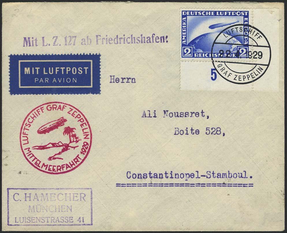 Lot 4150 - zeppelinpost nach sieger LZ 127 - 1929 -  Auktionshaus Ulrich Felzmann GmbH & Co. KG