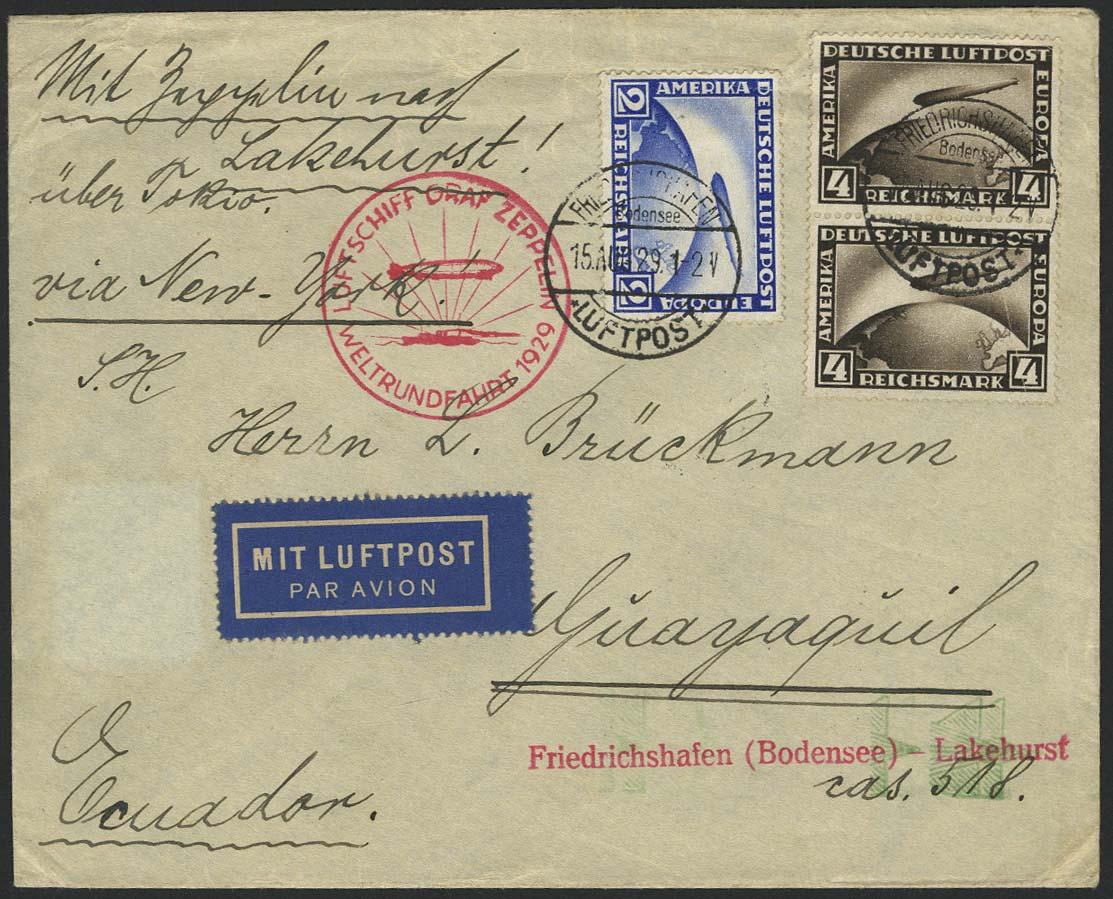 Lot 4157 - zeppelinpost nach sieger LZ 127 - 1929 -  Auktionshaus Ulrich Felzmann GmbH & Co. KG