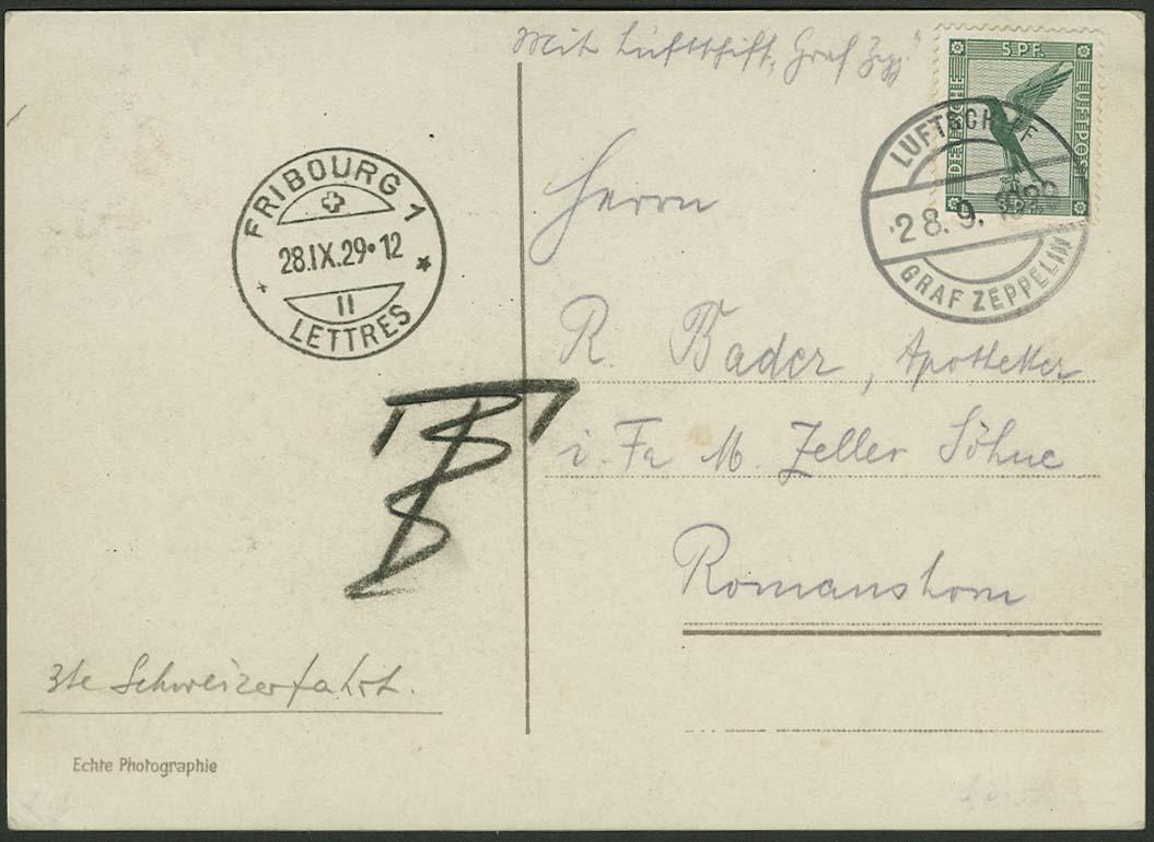 Lot 4178 - zeppelinpost nach sieger LZ 127 - 1929 -  Auktionshaus Ulrich Felzmann GmbH & Co. KG