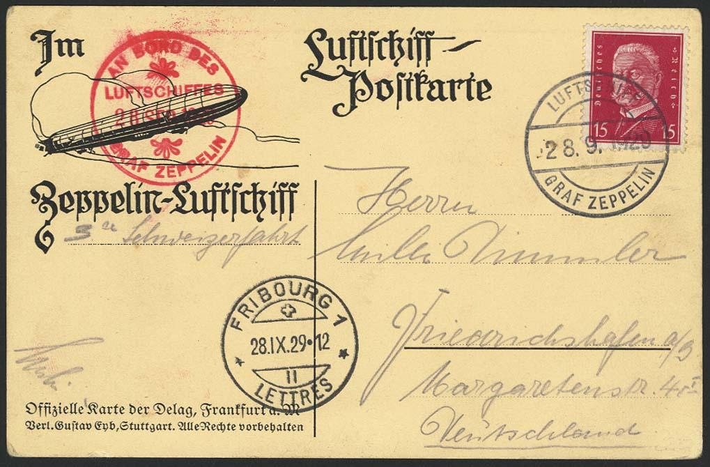 Lot 4179 - zeppelinpost nach sieger LZ 127 - 1929 -  Auktionshaus Ulrich Felzmann GmbH & Co. KG