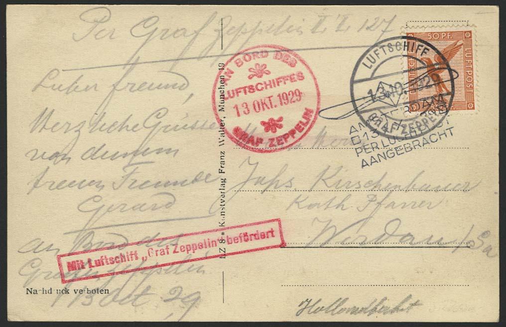 Lot 4190 - zeppelinpost nach sieger LZ 127 - 1929 -  Auktionshaus Ulrich Felzmann GmbH & Co. KG