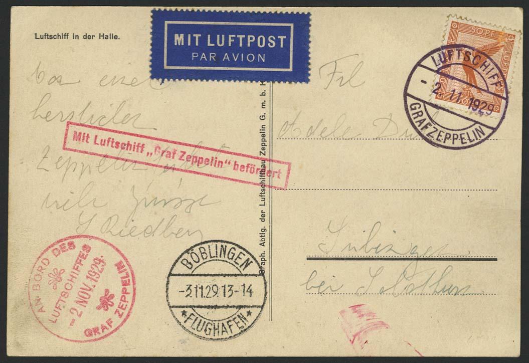 Lot 4199 - zeppelinpost nach sieger LZ 127 - 1929 -  Auktionshaus Ulrich Felzmann GmbH & Co. KG