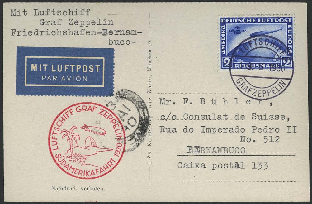 Lot 4210 - zeppelinpost nach sieger LZ 127 - 1930 -  Auktionshaus Ulrich Felzmann GmbH & Co. KG