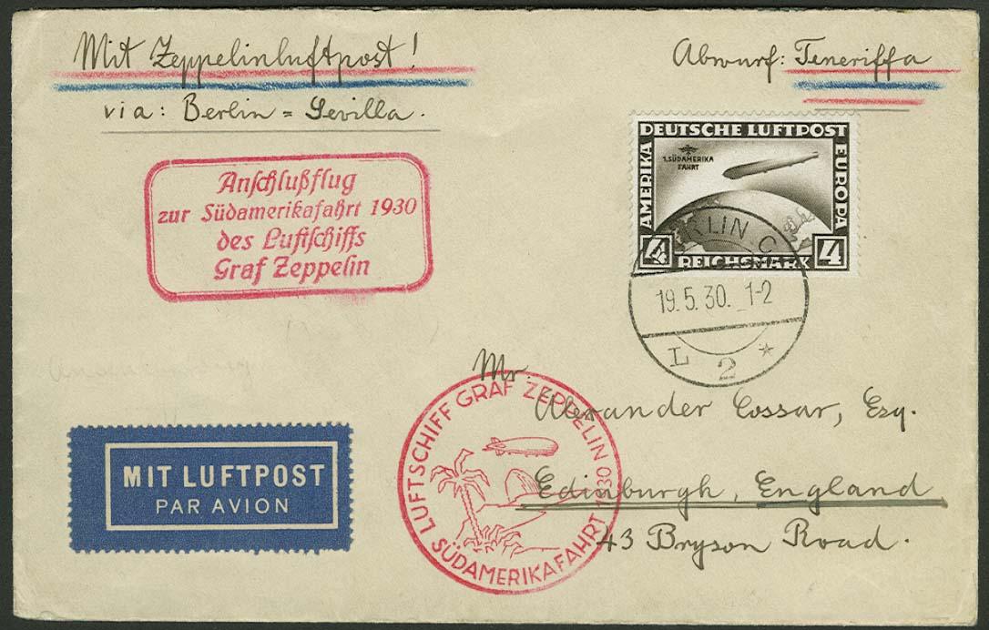 Lot 4220 - zeppelinpost nach sieger LZ 127 - 1930 -  Auktionshaus Ulrich Felzmann GmbH & Co. KG