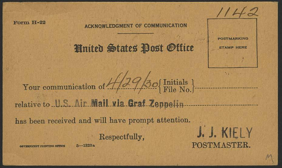 Lot 4225 - zeppelinpost nach sieger LZ 127 - 1930 -  Auktionshaus Ulrich Felzmann GmbH & Co. KG