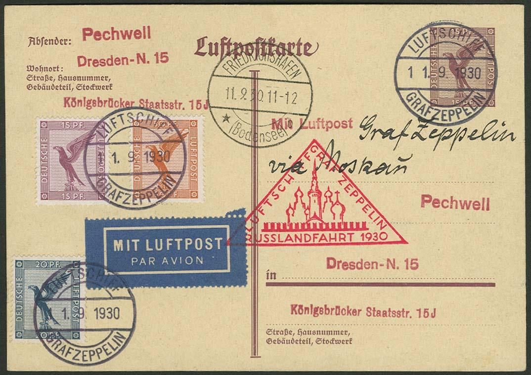 Lot 4238 - zeppelinpost nach sieger LZ 127 - 1930 -  Auktionshaus Ulrich Felzmann GmbH & Co. KG