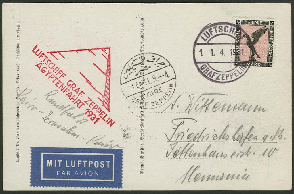Lot 4254 - zeppelinpost nach sieger LZ 127 - 1931 -  Auktionshaus Ulrich Felzmann GmbH & Co. KG