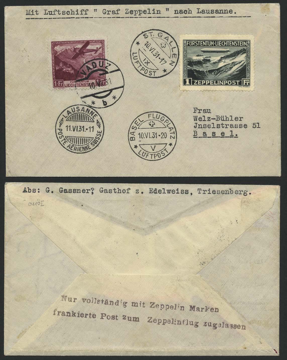 Lot 4258 - zeppelinpost nach sieger LZ 127 - 1931 -  Auktionshaus Ulrich Felzmann GmbH & Co. KG