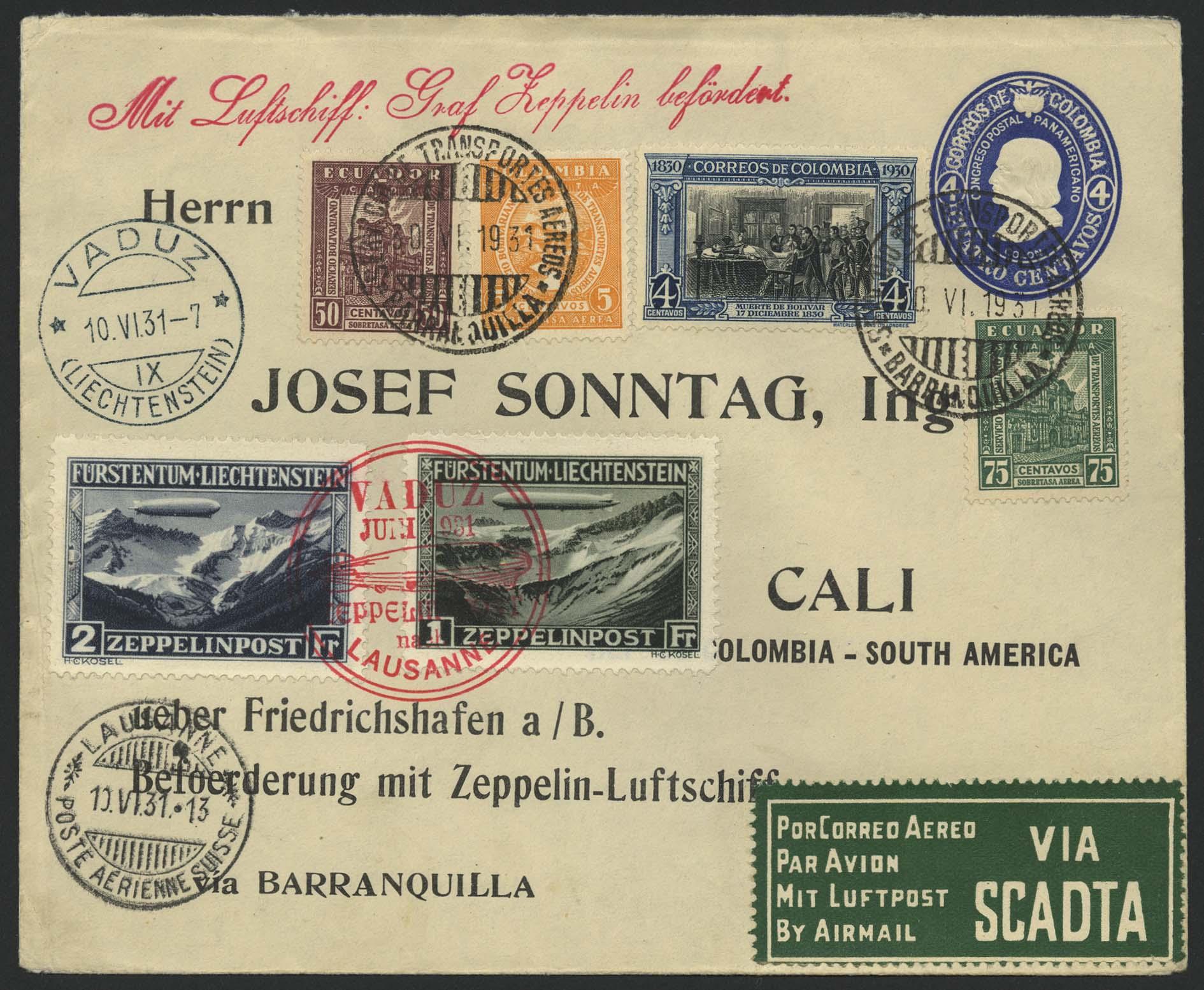 Lot 4263 - zeppelinpost nach sieger LZ 127 - 1931 -  Auktionshaus Ulrich Felzmann GmbH & Co. KG