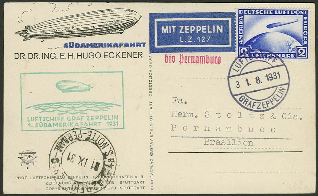 Lot 4280 - zeppelinpost nach sieger LZ 127 - 1931 -  Auktionshaus Ulrich Felzmann GmbH & Co. KG