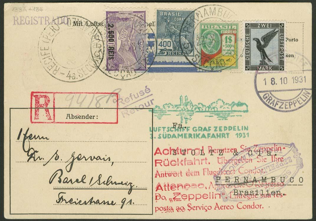 Lot 4284 - zeppelinpost nach sieger LZ 127 - 1931 -  Auktionshaus Ulrich Felzmann GmbH & Co. KG