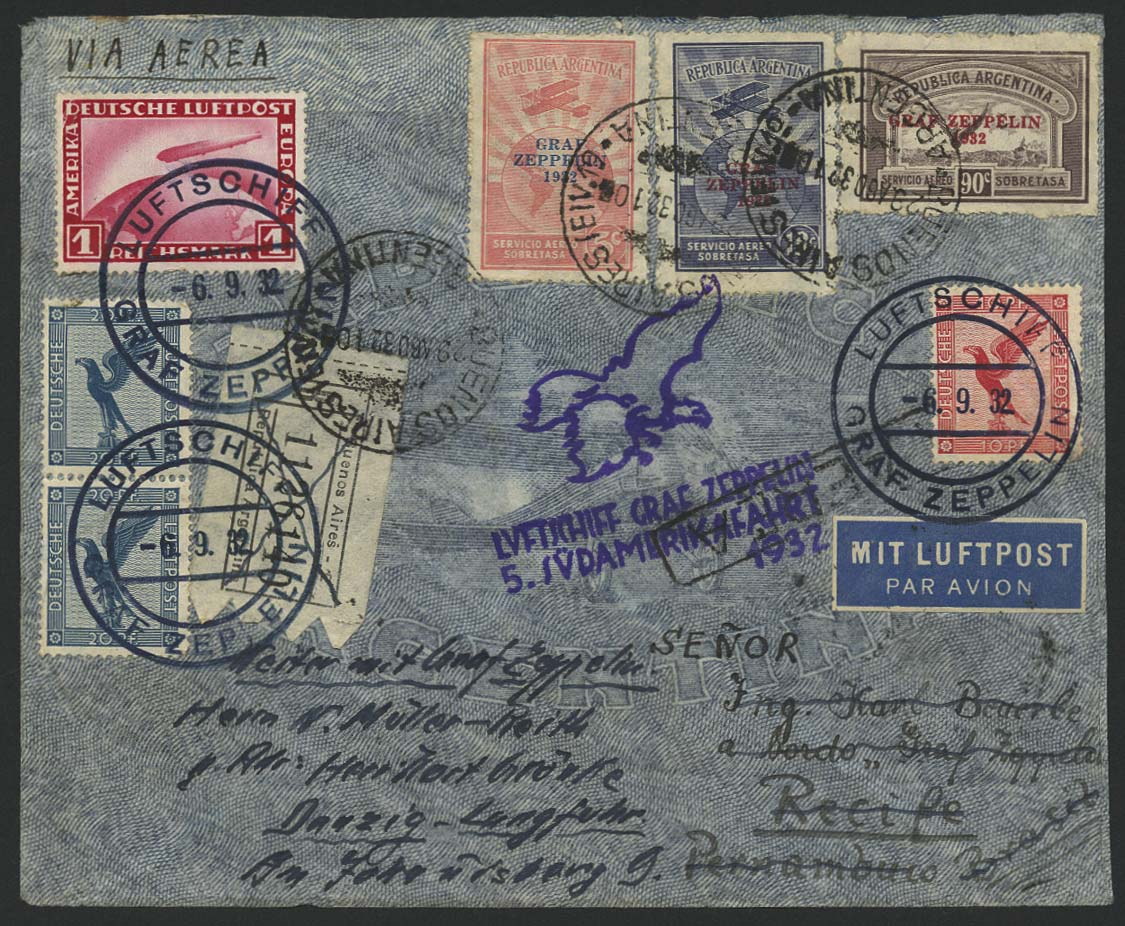Lot 4295 - zeppelinpost nach sieger LZ 127 - 1932 -  Auktionshaus Ulrich Felzmann GmbH & Co. KG