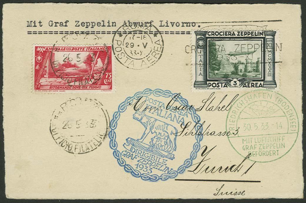 Lot 4329 - zeppelinpost nach sieger LZ 127 - 1933 -  Auktionshaus Ulrich Felzmann GmbH & Co. KG