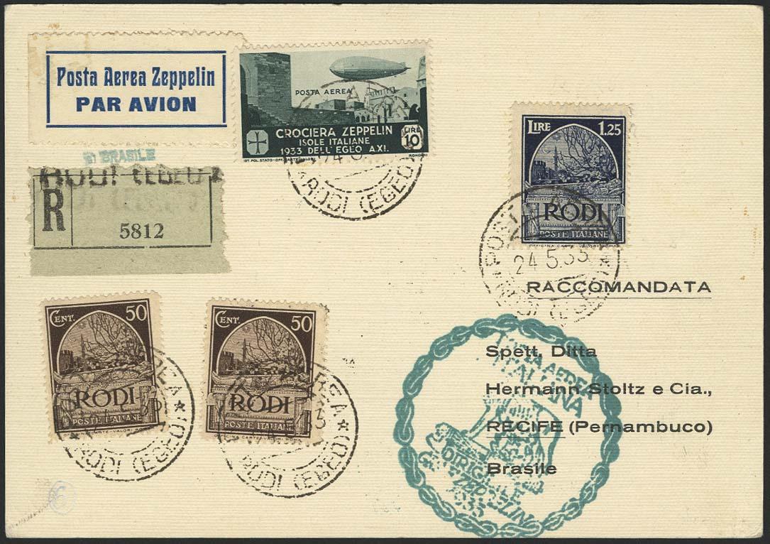 Lot 4358 - zeppelinpost nach sieger LZ 127 - 1933 -  Auktionshaus Ulrich Felzmann GmbH & Co. KG