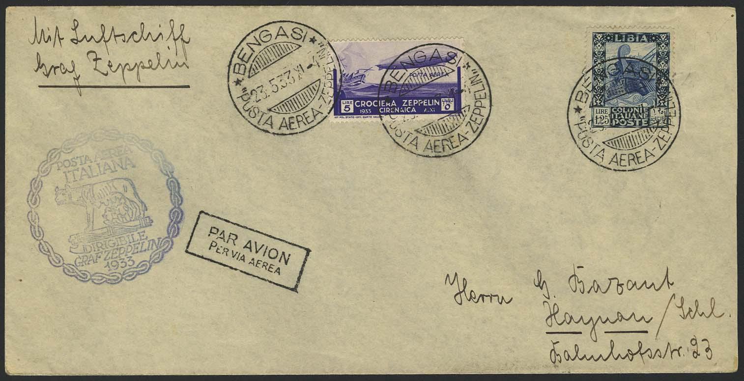 Lot 4369 - zeppelinpost nach sieger LZ 127 - 1933 -  Auktionshaus Ulrich Felzmann GmbH & Co. KG