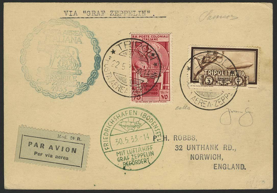 Lot 4381 - zeppelinpost nach sieger LZ 127 - 1933 -  Auktionshaus Ulrich Felzmann GmbH & Co. KG