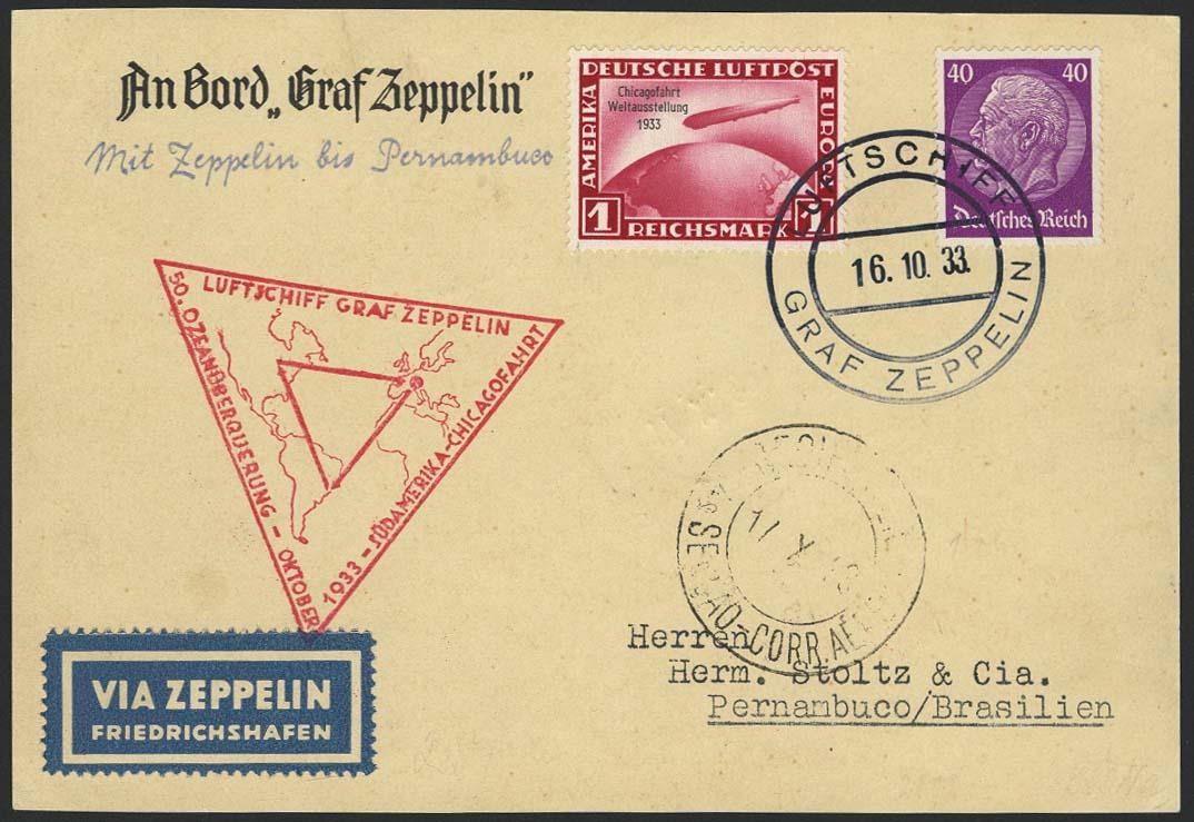 Lot 4402 - zeppelinpost nach sieger LZ 127 - 1933 -  Auktionshaus Ulrich Felzmann GmbH & Co. KG