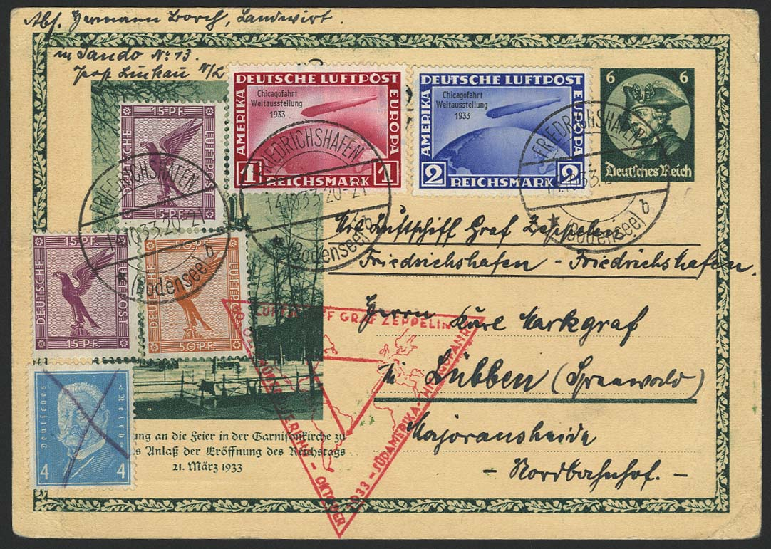 Lot 4407 - zeppelinpost nach sieger LZ 127 - 1933 -  Auktionshaus Ulrich Felzmann GmbH & Co. KG