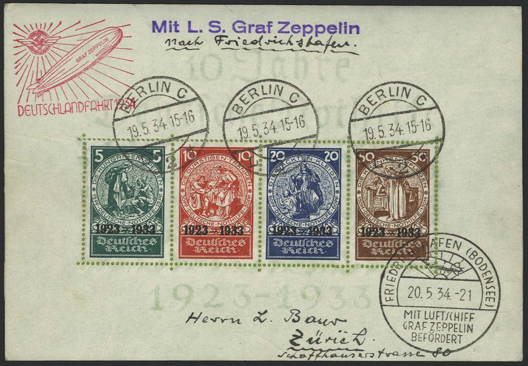 Lot 4412 - zeppelinpost nach sieger LZ 127 - 1934 -  Auktionshaus Ulrich Felzmann GmbH & Co. KG