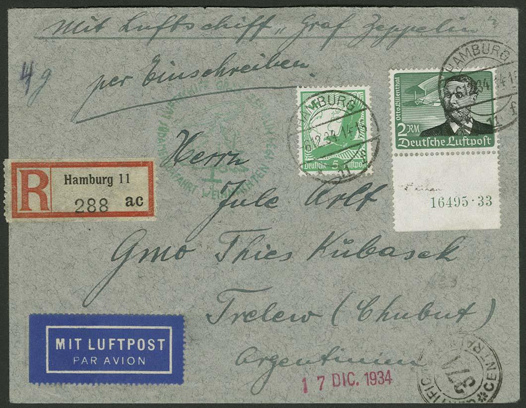 Lot 4417 - zeppelinpost nach sieger LZ 127 - 1934 -  Auktionshaus Ulrich Felzmann GmbH & Co. KG