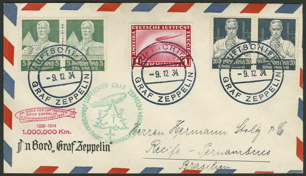 Lot 4418 - zeppelinpost nach sieger LZ 127 - 1934 -  Auktionshaus Ulrich Felzmann GmbH & Co. KG