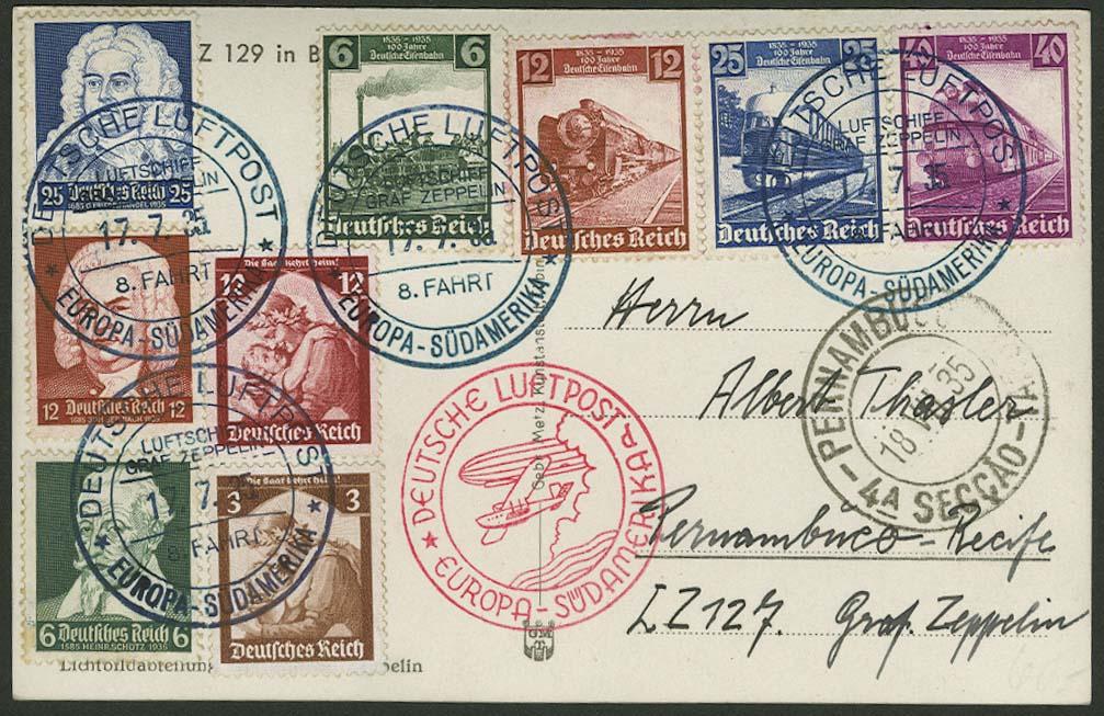 Lot 4419 - zeppelinpost nach sieger LZ 127 - 1935 -  Auktionshaus Ulrich Felzmann GmbH & Co. KG
