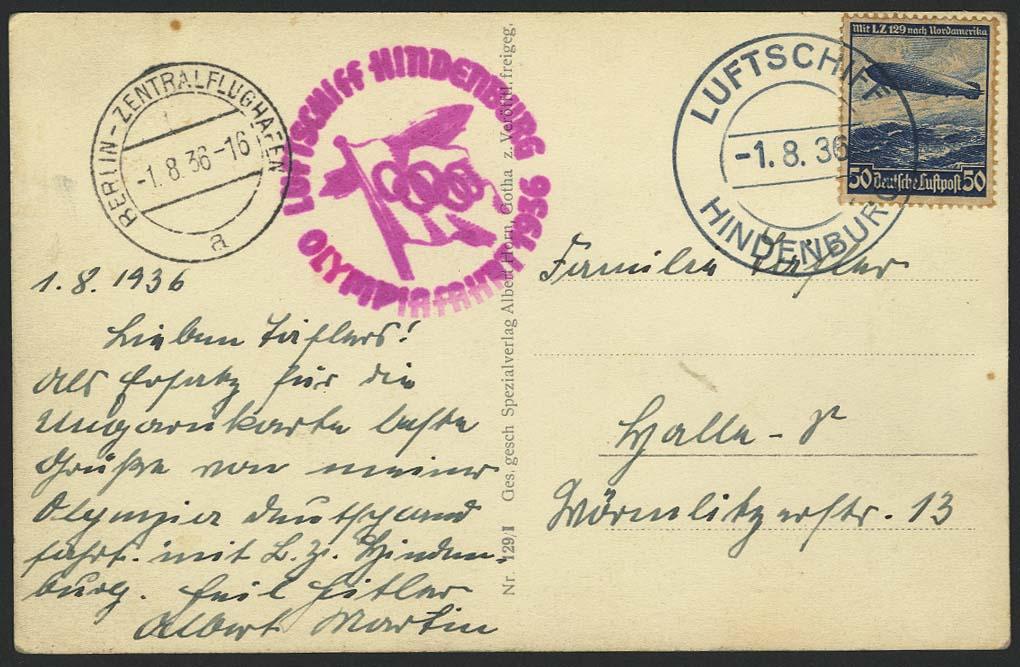 Lot 4425 - zeppelinpost nach sieger LZ 129 - 1936 -  Auktionshaus Ulrich Felzmann GmbH & Co. KG