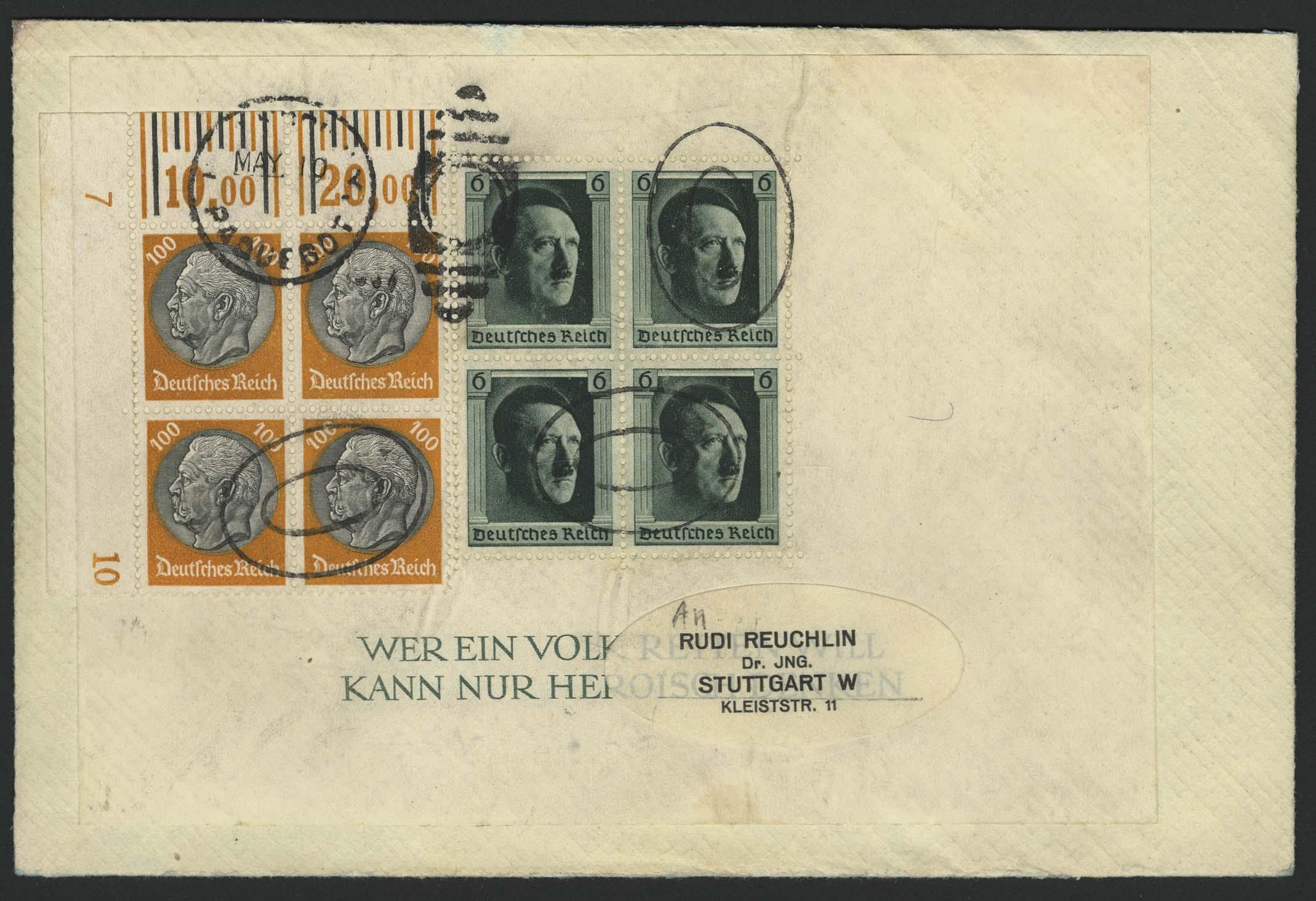Lot 4428 - zeppelinpost nach sieger LZ 129 - 1937 -  Auktionshaus Ulrich Felzmann GmbH & Co. KG