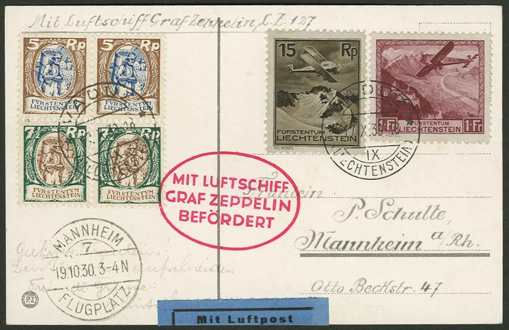 Lot 4489 - Zuleitungen Europa A-Z - Liechtenstein -  Auktionshaus Ulrich Felzmann GmbH & Co. KG