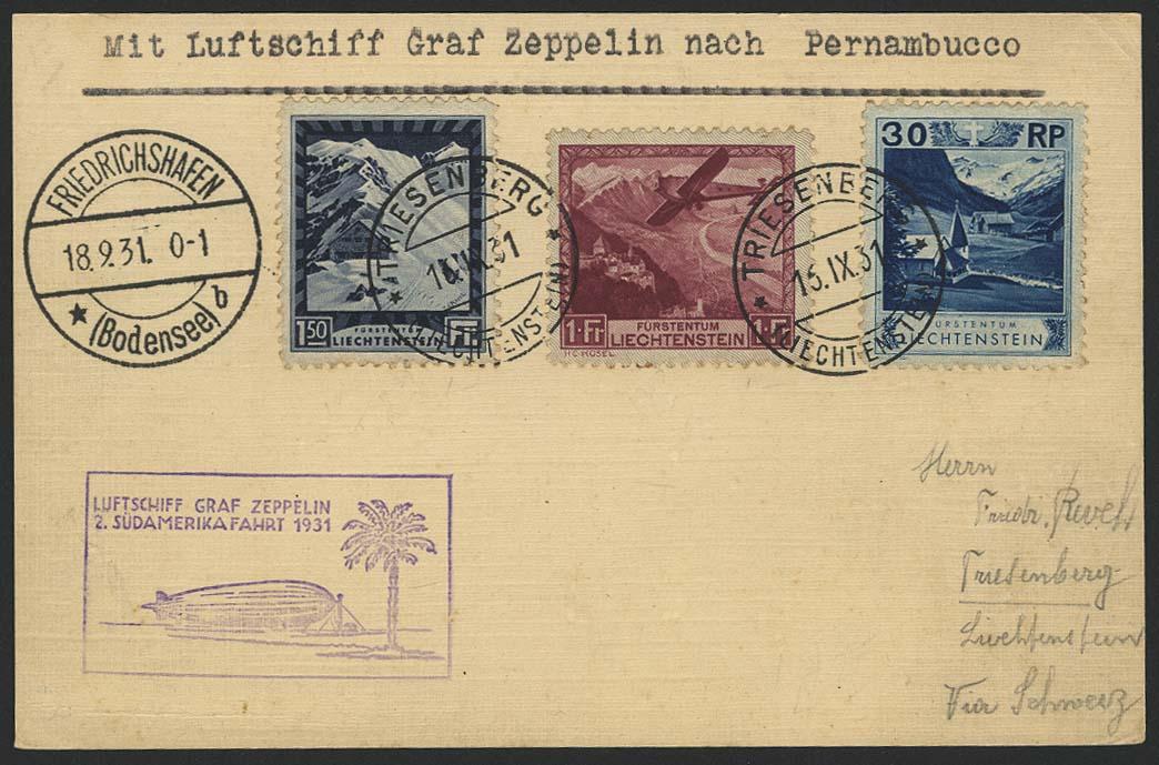 Lot 4498 - Zuleitungen Europa A-Z - Liechtenstein -  Auktionshaus Ulrich Felzmann GmbH & Co. KG