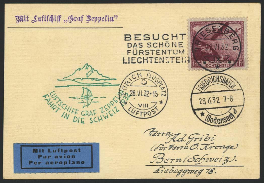 Lot 4501 - Zuleitungen Europa A-Z - Liechtenstein -  Auktionshaus Ulrich Felzmann GmbH & Co. KG