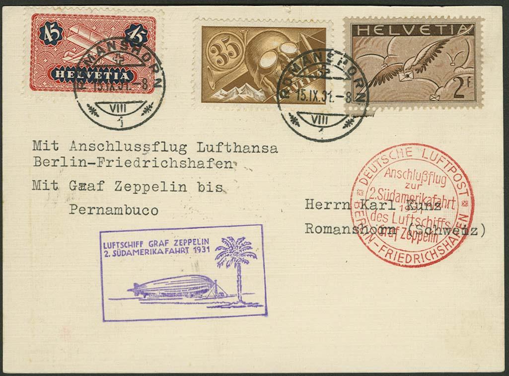 Lot 4557 - Zuleitungen Europa A-Z - Schweiz -  Auktionshaus Ulrich Felzmann GmbH & Co. KG