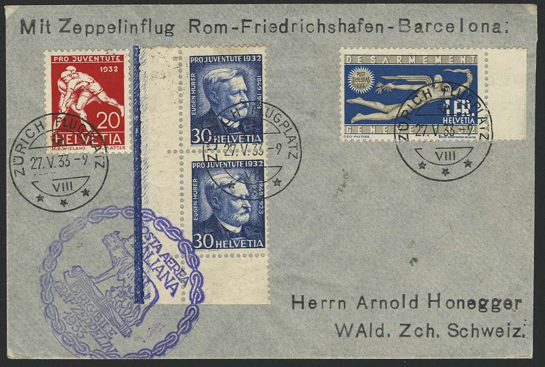 Lot 4570 - Zuleitungen Europa A-Z - Schweiz -  Auktionshaus Ulrich Felzmann GmbH & Co. KG