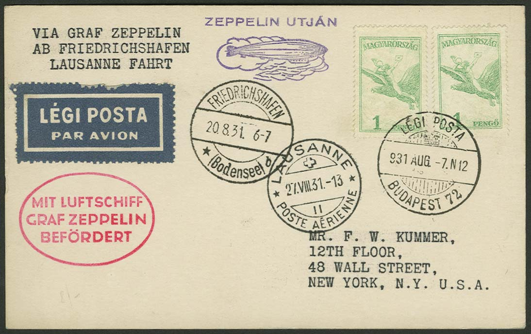 Lot 4575 - Zuleitungen Europa A-Z - Ungarn -  Auktionshaus Ulrich Felzmann GmbH & Co. KG