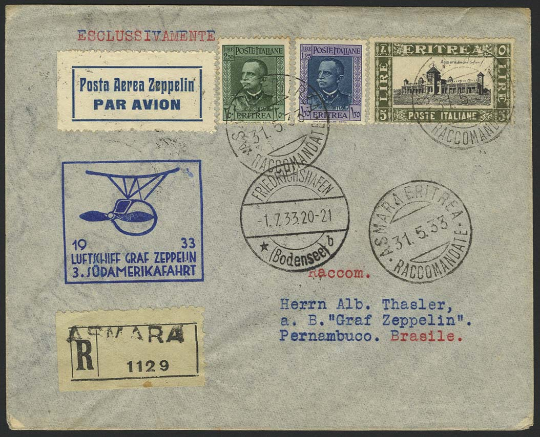 Lot 4593 - Zuleitungen Übersee A-Z - Eritrea (Italienisch) -  Auktionshaus Ulrich Felzmann GmbH & Co. KG