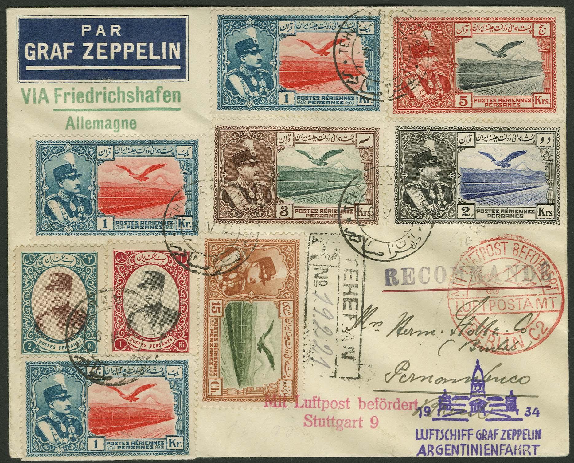 Lot 4594 - Zuleitungen Übersee A-Z - Iran -  Auktionshaus Ulrich Felzmann GmbH & Co. KG