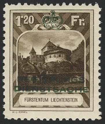 Lot 5250 - Europa A-Z liechtenstein - dienstmarken -  Auktionshaus Ulrich Felzmann GmbH & Co. KG