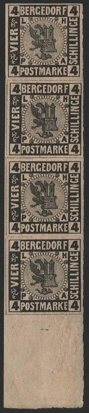 Lot 5493 - altdeutschland Bergedorf - Markenausgaben -  Auktionshaus Ulrich Felzmann GmbH & Co. KG