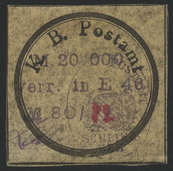 Lot 5770 - Deutsches Reich lokalausgaben 1918-1923 -  Auktionshaus Ulrich Felzmann GmbH & Co. KG