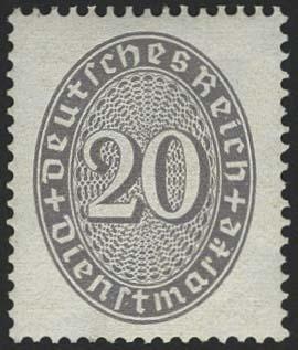 Lot 5818 - Deutsches Reich Dienst - Dienstmarken -  Auktionshaus Ulrich Felzmann GmbH & Co. KG