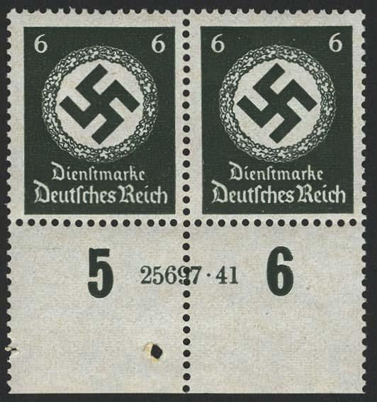 Lot 5819 - Deutsches Reich Dienst - Dienstmarken -  Auktionshaus Ulrich Felzmann GmbH & Co. KG