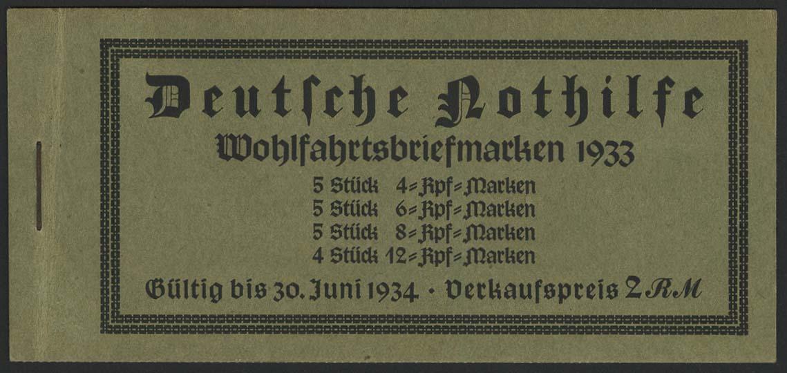 Lot 5845 - Deutsches Reich markenheftchen -  Auktionshaus Ulrich Felzmann GmbH & Co. KG