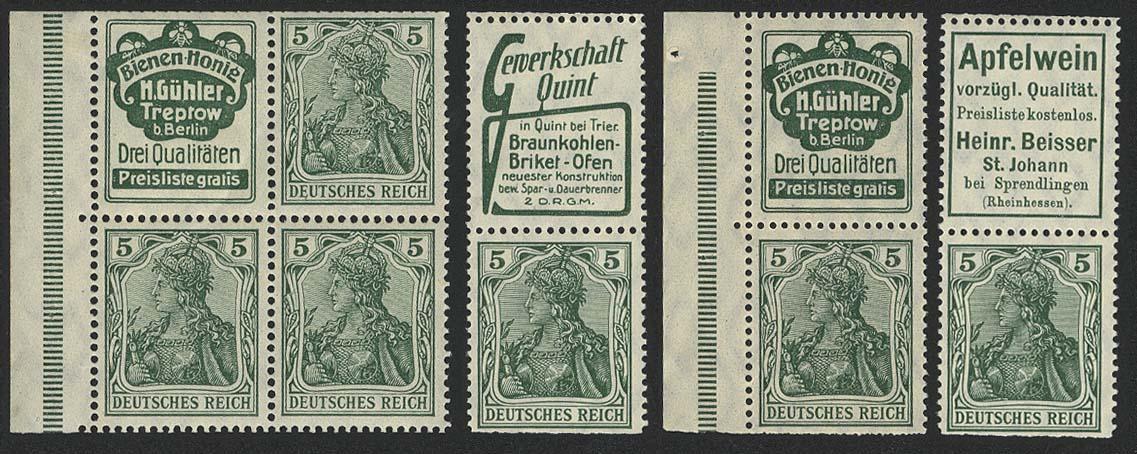 Lot 5862 - Deutsches Reich zusammendrucke -  Auktionshaus Ulrich Felzmann GmbH & Co. KG